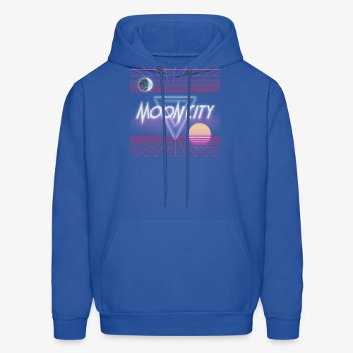 Moon City Retrogrid - Men's Hoodie
