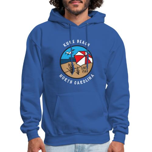Kure Beach Day-White Lettering-Front Only - Men's Hoodie