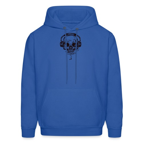 music skull head - Men's Hoodie