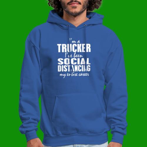 Social Distancing Trucker - Men's Hoodie