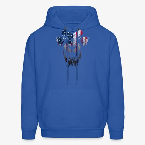 American Flag Lion Shirt - Men's Hoodie