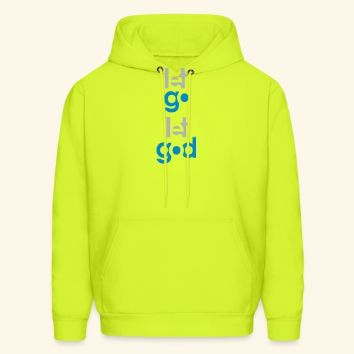 LET GO LET GOD GREY/BLUE #7 - Men's Hoodie