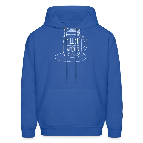 Filled to Overflow White - Men's Hoodie