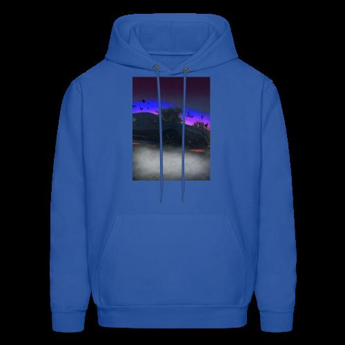 Blue Horizon w/ Logo - Men's Hoodie