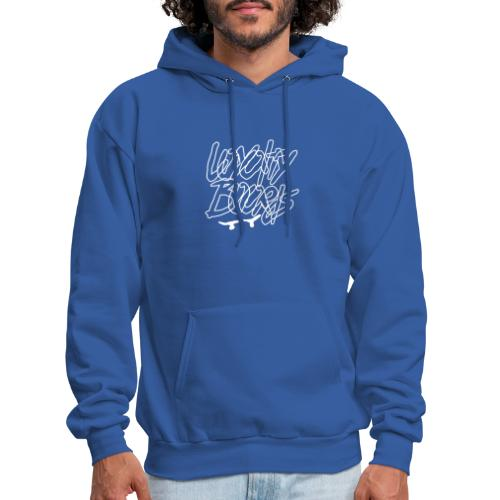 Loyalty Boards White Font With Board - Men's Hoodie