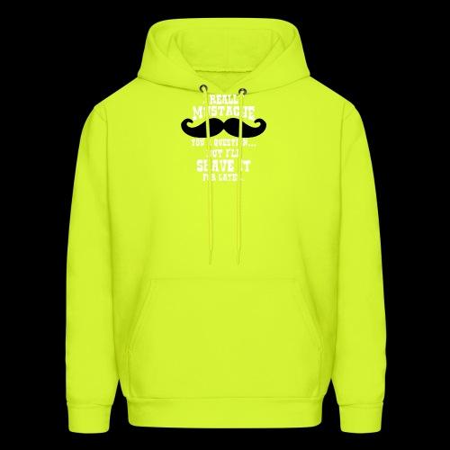 Mustache Pun - Men's Hoodie