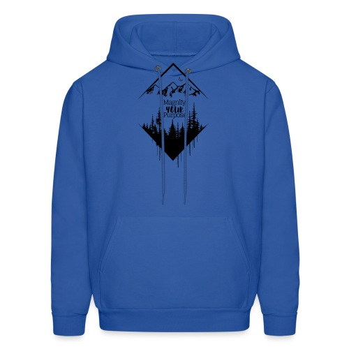 Half Moon Mountains over Forest Dark 2 - Men's Hoodie
