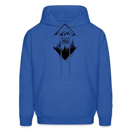 Half Moon Mountains over Forest Dark 2 - Men's Hoodie