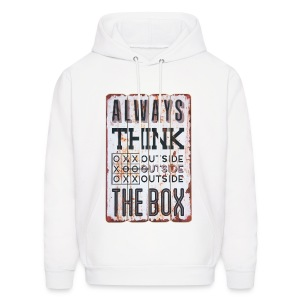Always think outside the box - Men's Hoodie