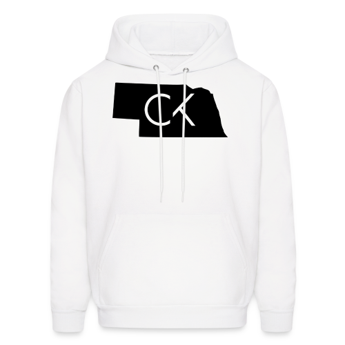 State of Nebraska Conor Keating Logo (White) - Men's Hoodie