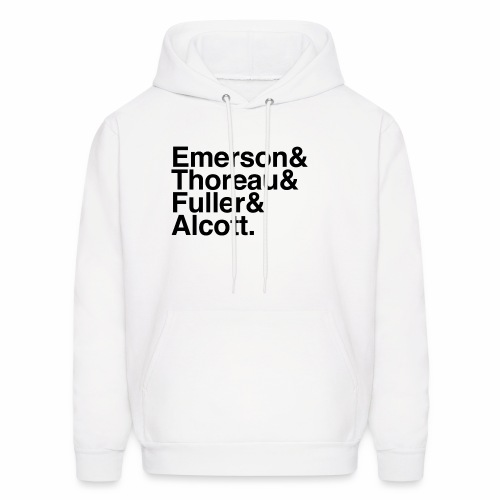 Transcendentalist authors in black Helvetica - Men's Hoodie