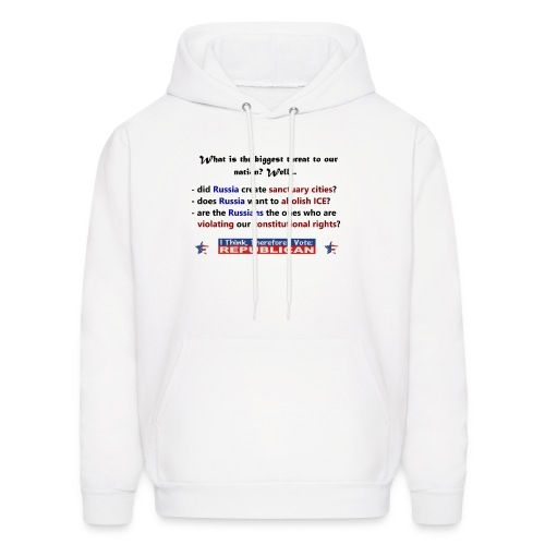 A vote for America. - Men's Hoodie