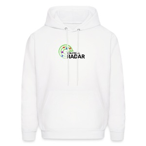 Political Radar Logo - Black - Men's Hoodie