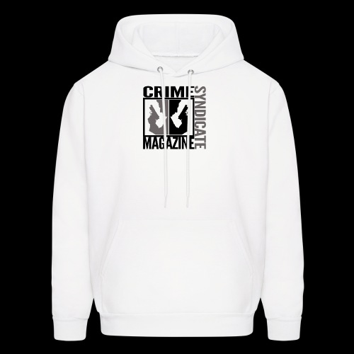 CRIME SYNDIATE MAGAZINE LOGO (No Background) - Men's Hoodie