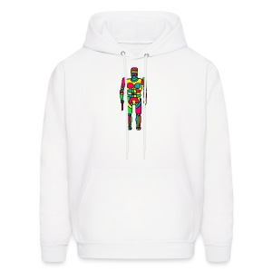 Cartoon Robocop in Color - Men's Hoodie