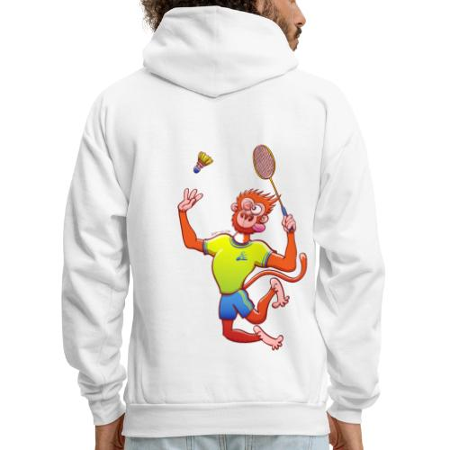 Red Monkey Playing Badminton - Men's Hoodie