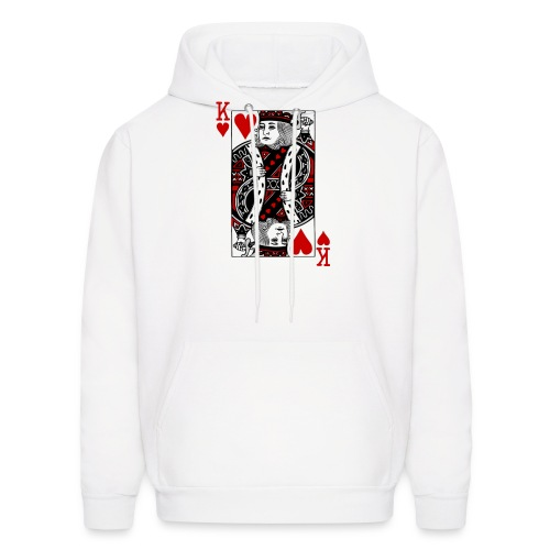 king of hearts Valentines Day (his and her) - Men's Hoodie