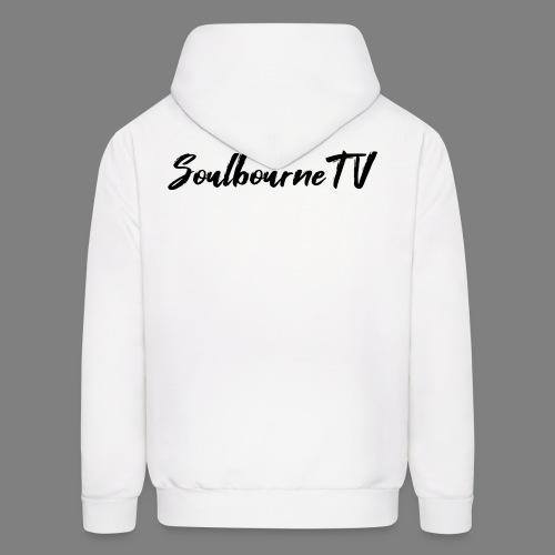 SoulbourneTV - Black on White - Men's Hoodie