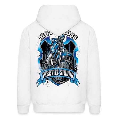 Motocross Throttle Strong - Men's Hoodie