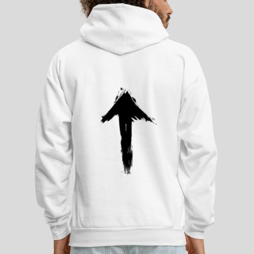 1Up sign (white) - Men's Hoodie