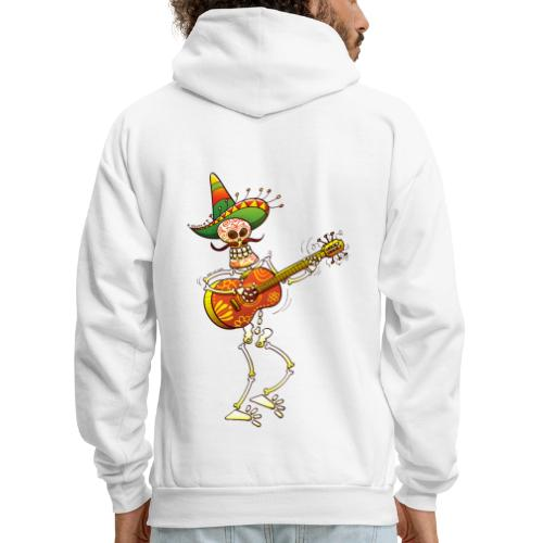 Mexican Skeleton Playing Guitar - Men's Hoodie