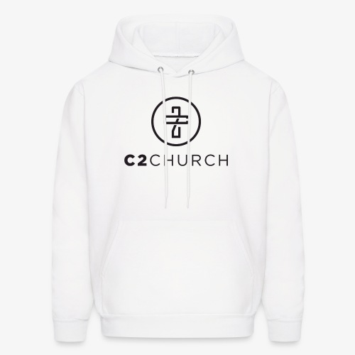C2 Church Merch with Name (Black) - Men's Hoodie