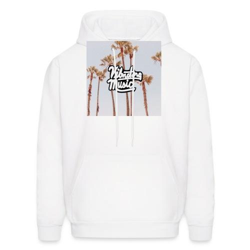 Palm Trees Vibrating Logo - Men's Hoodie
