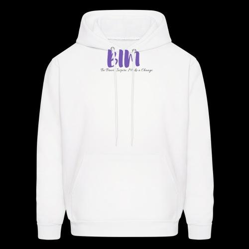 BIM White/Purple - Men's Hoodie