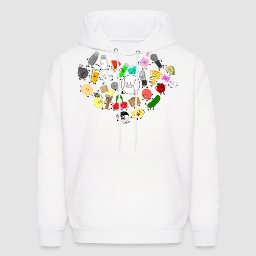 Inanimate Heart Color - Men's Hoodie