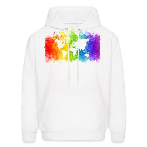 Pride Rainbow Map World - Men's Hoodie