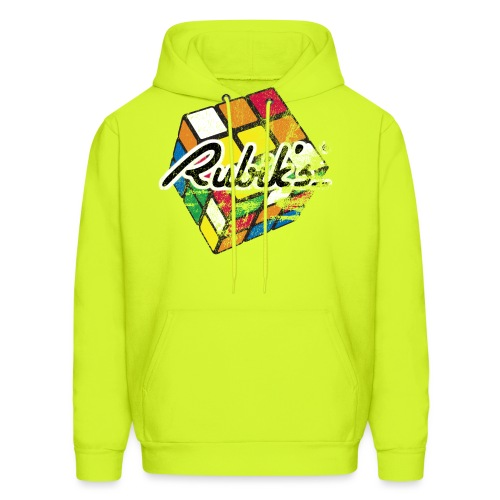 Rubik's Cube Distressed and Faded - Men's Hoodie