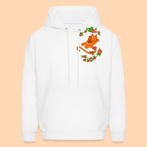 cat of flower - Men's Hoodie
