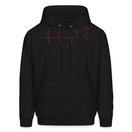 Heart Collie - Men's Hoodie