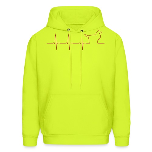 Heart Collie - Men's Hoodie