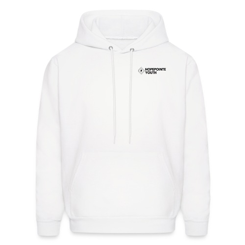 White with Black logo - Men's Hoodie
