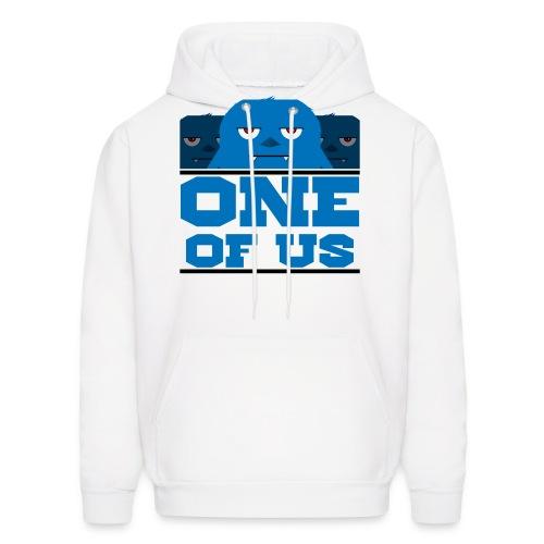 one of us blue png - Men's Hoodie