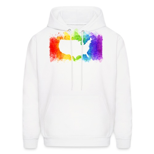 Pride Rainbow Map USA - Men's Hoodie