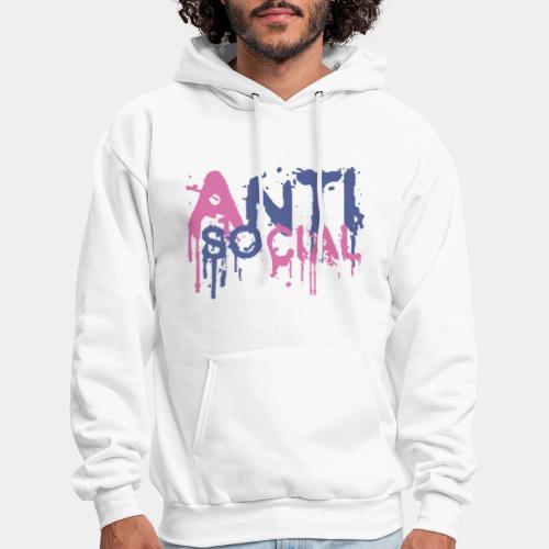 anti social antisocial - Men's Hoodie