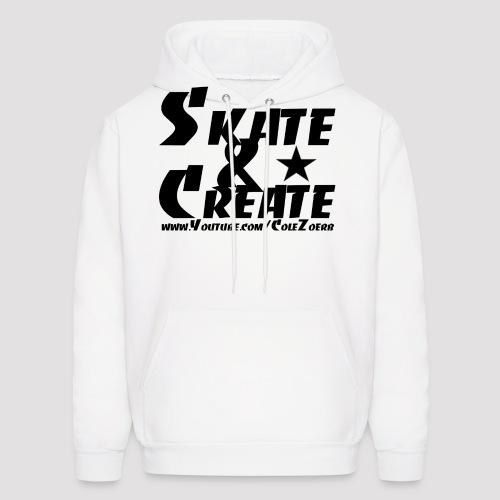 SkateandCreate Blk png - Men's Hoodie