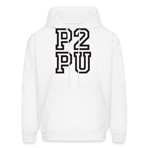 P2PU BLACK-02 Solid - Men's Hoodie