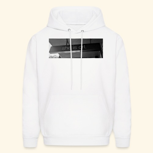 She is art. - Men's Hoodie