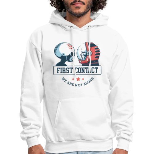 alien astronaut first contact - Men's Hoodie