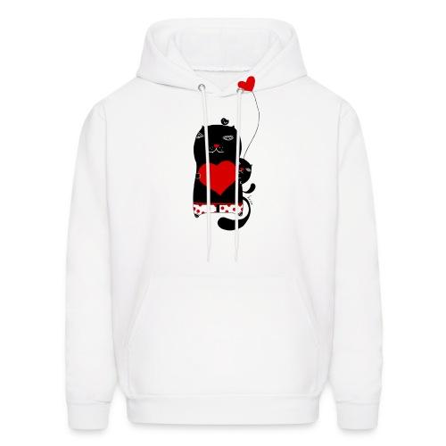 Cats w Hearts Kristina S - Men's Hoodie