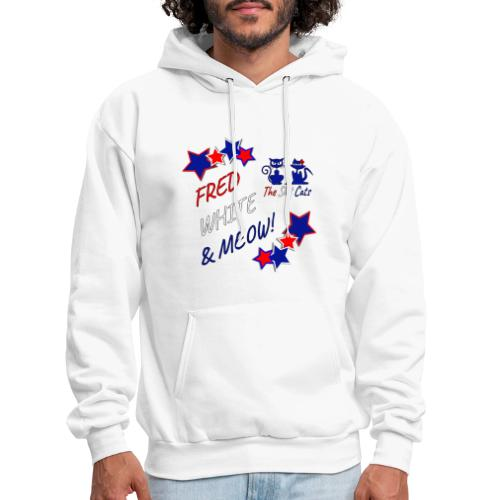 FRED WHITE BLUE SLOTCATS - Men's Hoodie