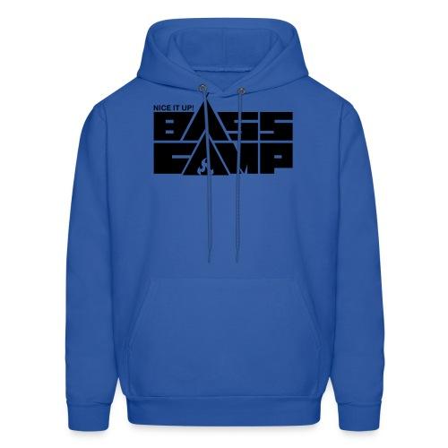 Nice it up! Bass Camp logo - Black - Men's Hoodie