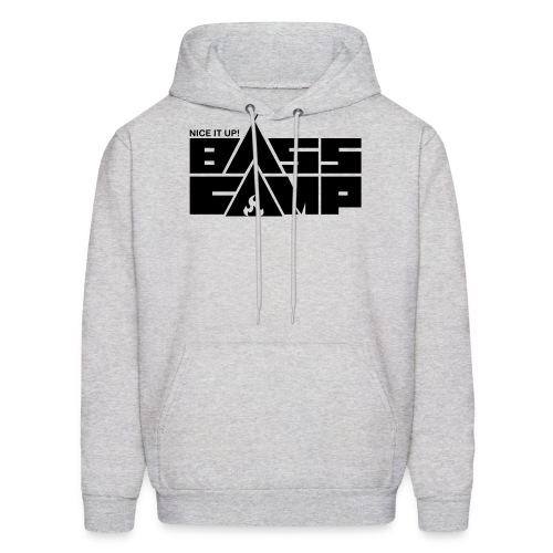 Nice it up! Bass Camp logo - Black - Men's Hoodie