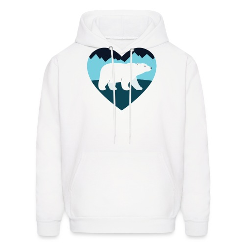 Polar Bear Love - Men's Hoodie