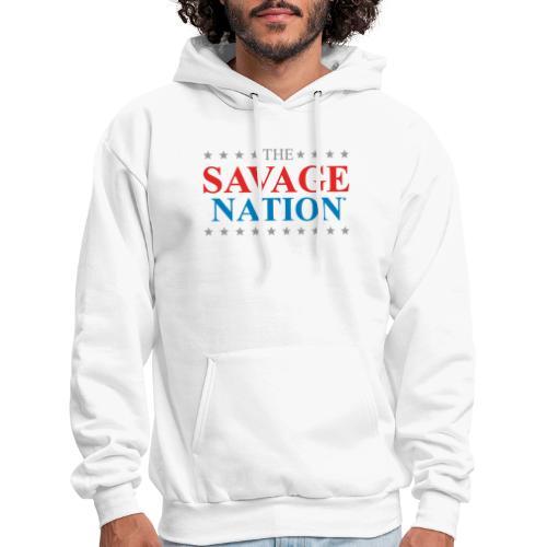 The Savage Nation Logo - Men's Hoodie