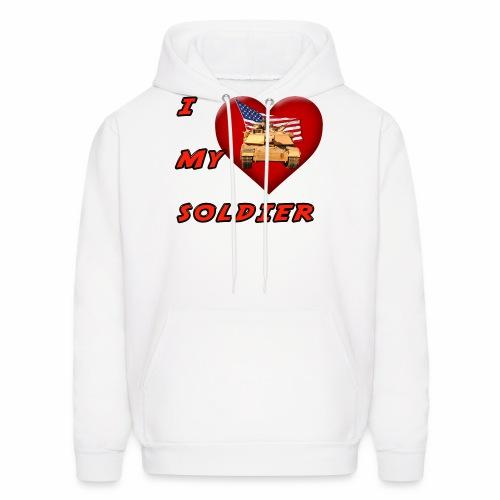 I Heart my Soldier - Men's Hoodie