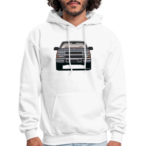 Design Icon: American Bowtie Silver Urban Truck - Men's Hoodie